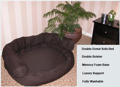 Mammoth Double Bolster Dog Couch