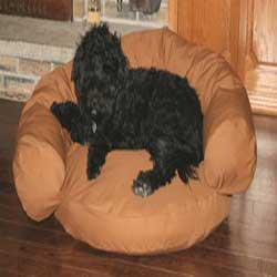 Donut dog couch in designer styles for large dogs